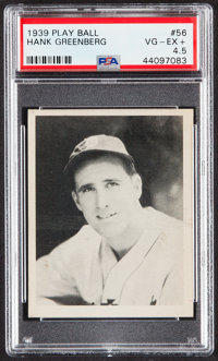 1939 Play Ball Hank Greenberg #56 PSA VG-EX+ 4.5