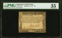 Maryland August 14, 1776 $6 PMG Choice Very Fine 35