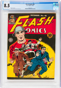 Flash Comics #48 (DC, 1943) CGC VF+ 8.5 Off-white to white pages