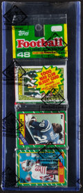 Football Cards:Unopened Packs/Display Boxes, 1986 Topps Football Rack Pack With Jerry Rice Rookie on Front. ...