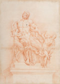 Works on Paper, Italian School (18th Century). Laocoon and His Sons. Sanguine on paper. 20 x 14-1/2 inches (50.8 x 36.8 cm) (sight). P...