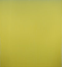 Joseph Marioni (b. 1943) Yellow Painting, 2001 Acrylic and linen on stretcher 90 x 84 inches (228