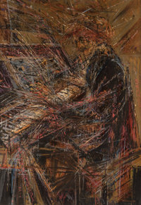 Wayne Thiebaud (b. 1920) Paderewski at the Piano, 1954 Oil on board 68 x 48 inches (172.7 x 121.9 cm) Signed and dat