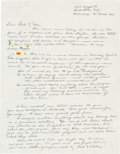 Explorers:Space Exploration, Jack Swigert Autograph Letter Signed to His Parents Upon Becoming an Astronaut with His Personal Résumé and Period Newspaper C...