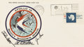 Explorers:Space Exploration, Apollo 15 Crew-Signed Insurance Cover Originally from the Personal Collection of Mission Command Module Pilot Al Worden, Signe...