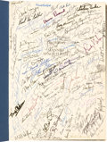 Explorers:Space Exploration, History of Manned Spaceflight Book by David H. Baker Containing Hundreds of In-Person Signatures, including All Twelve...