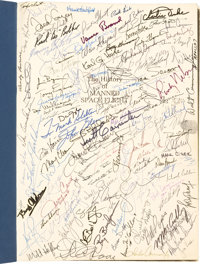 History of Manned Spaceflight Book by David H. Baker Containing Hundreds of In-Person Signatures, inclu