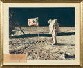 Explorers:Space Exploration, Apollo 11 Lunar Module Flown and Surface-Used Camera Film Leader Strip, Signed and Certified by Richard Underwood, in Framed D...