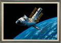 """Explorers:Space Exploration, Stan Stokes Original Art: """"A Not So Routine Service Call"""", Framed. ..."""