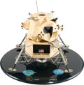 Explorers:Space Exploration, Apollo Lunar Module Grumman Contractor's Model on Base with all Sixteen RCS Thrusters....