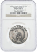Explorers:Space Exploration, Apollo 12 Flown MS64 NGC Silver Robbins Medallion, Serial Number 114, Originally from the Personal Collection of Mission Lunar...