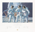 """Explorers:Space Exploration, Alan Bean Signed Limited Edition, #867/1000, """"Conrad, Gordon, and Bean: The Fantasy"""" Print, also Signed by Charles Conrad and ..."""