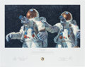 """Explorers:Space Exploration, Alan Bean Signed Limited Edition, #766/850, """"Heavenly Reflections"""" Print, also Signed by Charles Conrad...."""