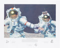 """Explorers:Space Exploration, Alan Bean Signed Limited Edition, #410/550, """"Right Stuff Field Geologists"""" Print, also Signed by Gene Cernan and Harrison Schm..."""