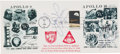 Explorers:Space Exploration, Apollo 8 and Apollo 10: Large Philatelic Cover Signed by James Lovell and the Apollo 10 Crew, a Gift from Dick and Barbara Gor...