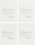 Explorers:Space Exploration, Gemini 6A & Gemini 7 Rendezvous: Individually-Signed Typed Quotations Regarding the Mission....