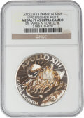 Explorers:Space Exploration, Apollo 13 Unflown PF65 Ultra Cameo NGC Silver Franklin Mint Medal, Serial Number 0117, Directly from the Personal Collection o...