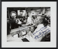 Explorers:Space Exploration, Apollo 13: Mission Control Photo Signed by James Lovell, Chris Kraft, and Gene Kranz, in Framed Display. ...