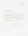 Explorers:Space Exploration, Neil Armstrong 1983 Typed Letter Signed to His Father Regarding Wapakoneta's Plan for an Apollo 11 Fifteenth Anniversary Celeb...