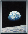 """Explorers:Space Exploration, Alan Bean Signed Limited Edition, #25/125, """"Mother Earth"""" Giclée Canvas...."""