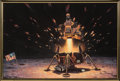 """Explorers:Space Exploration, Alan Bean Signed Limited Edition, #55/150, """"The Eagle is Headed Home"""" Giclée Canvas Print in Framed Display...."""