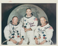 "Explorers:Space Exploration, Apollo 11 Crew-Signed Original NASA ""Red Number"" Color Photo Signed in June 1969 at the Request of NASA Director James Webb, O..."