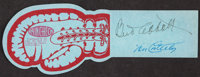 1947 Abbott & Costello Dual-Signed Boxing Ticket