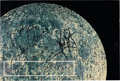 Explorers:Space Exploration, Neil Armstrong and Gene Cernan: A Color Image of the Moon Signed by Both....