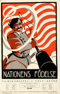 """Movie Posters:Drama, The Birth of a Nation (Epoch Producing, 1918). Folded, Fine/Very Fine. Swedish One Sheet (22"""" X 34.25"""") Österberg Artwork.. ..."""