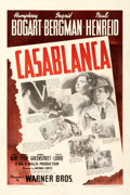 "Movie Posters:Academy Award Winners, Casablanca (Warner Bros., 1942). Fine/Very Fine on Linen. One Sheet (27.25"" X 41"").. ..."
