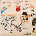 Music Memorabilia:Autographs and Signed Items, John Lennon Signed and Inscribed Walls and Bridges Vinyl LP (Apple, SW-3416). ...