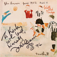 John Lennon Signed and Inscribed Walls and Bridges Vinyl LP (Apple, SW-3416)