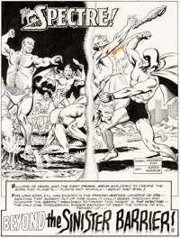 "Murphy Anderson Showcase #61 ""Beyond the Sinister Barrier!"" Part 1 - Spectre Original Art Group of 6 (DC, 1966..."