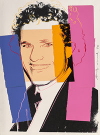 Andy Warhol (1928-1987) Joseph Kennedy II, 1986 Silkscreen and colored paper collage on paper 30-3/4 x 23 inches (78