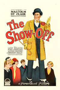 "The Show Off (Paramount, 1926). Poor/Fair on Linen. One Sheet (27.5"" X 41"") Style A"