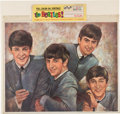 Music Memorabilia:Memorabilia, The Beatles Large Color Oil Portrait With Header Card and Beatle Buddies Club Membership Card and Smaller Color Portrait (NEM...