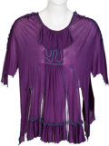 Music Memorabilia:Costumes, Marc Bolan Owned Purple Silk Jersey Short-Sleeved Tunic Top. ...