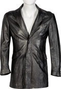 Music Memorabilia:Costumes, Ronnie Wood Owned Soft Leather Silver/Gray Jacket. ...