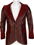 Music Memorabilia:Costumes, John Entwistle/The Who Owned Dark Red Jacket. ...