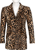 Music Memorabilia:Costumes, Keith Moon/The Who Owned and Worn Velvet Leopard Print Jacket. ...