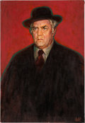 Movie/TV Memorabilia:Original Art, Raymond Burr Godfather Painting The Misadventures of Sheriff Lobo (1979). ...