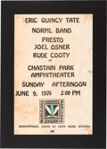 Music Memorabilia:Posters, The Eric Quincy Tate/Norml Band Chastain Park Amphitheater Concert Poster (1974). ...