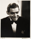 Movie/TV Memorabilia:Photos, Clark Gable Photograph from Original Negative Hand Signed by Photographer. . ...