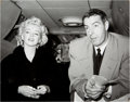 Movie/TV Memorabilia:Photos, Marilyn Monroe/Joe DiMaggio On Honeymoon Black and White Photo Made from Original Negative (1954).. ...