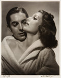 Movie/TV Memorabilia:Photos, Loretta Young/Tyrone Power Black and White Picture from Original Negative Hand Signed by Photographer.. ...