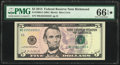 Repeater Serial 25552555 Fr. 1996-E $5 2013 Federal Reserve Note. PMG Gem Uncirculated 66 EPQ★
