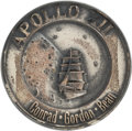 Explorers:Space Exploration, Apollo 12 Flown Silver Robbins Medallion, Serial Number 48, Directly from the Family Collection of Mission Command Module Pilo...
