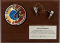 Explorers:Space Exploration, Skylab I (SL-2) Flown Pair of M509 Manned Maneuvering Bolts on Presentation Plaque from the Crew, Directly from the Personal C...