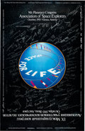 "Explorers:Space Exploration, Association of Space Explorers Limited Edition ""9th Planetary Congress"" Commemorative Poster, Signed by More than Sixty-Five A..."