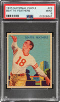 Football Cards:Singles (Pre-1950), 1935 National Chicle Beattie Feathers #23 PSA Mint 9 - Pop Five, None Higher....